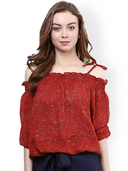 b832fcbc1df271 Off Shoulder Tops - Buy Off Shoulder Tops Online in India | Myntra