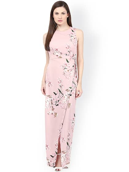 921043078ae Harpa. Pink Printed Maxi Dress