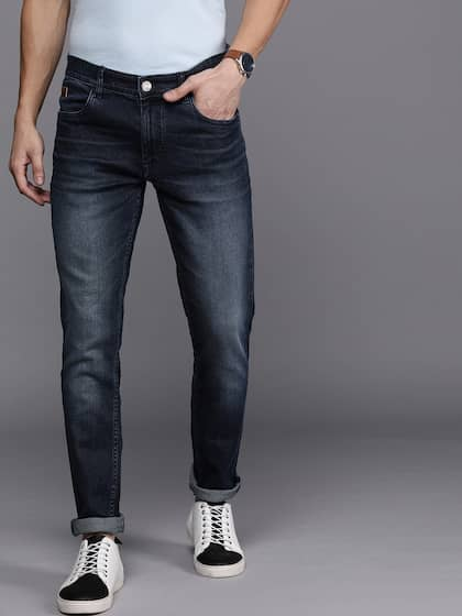 Women distress blue denim slim straight washed mid rise new pants jeans S 8 36