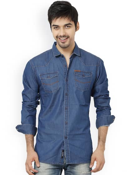 3ef3344655 Denim Shirts - Buy Denim Shirts for Men Online in India