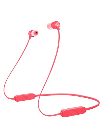 JBL Unisex Coral Red Tune 165 Bluetooth Wireless In-Ear Headphones
