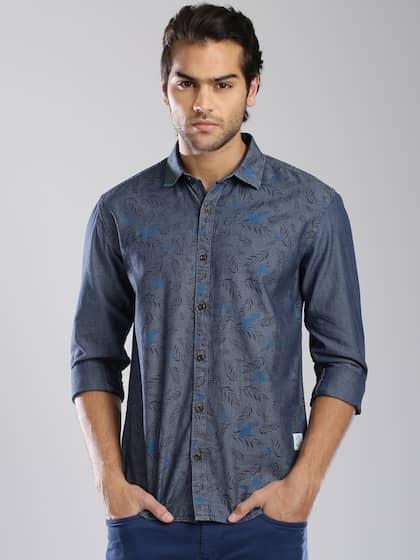 a3ce9a031621 Denim Shirts - Buy Denim Shirts for Men Online in India