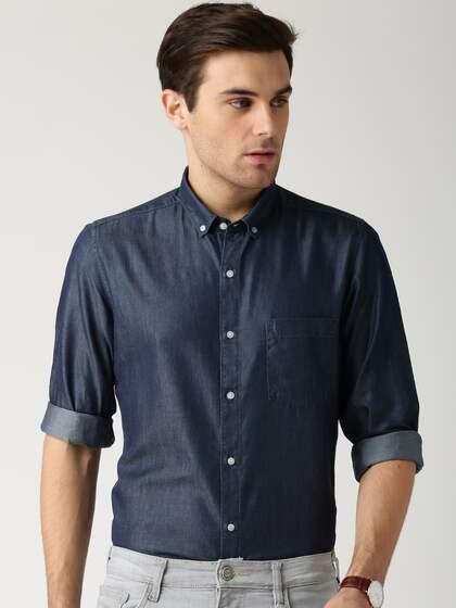 cc7a6218c51 Denim Shirts - Buy Denim Shirts for Men Online in India