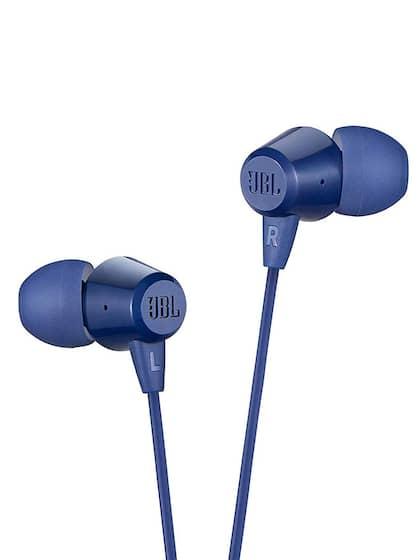 JBL Unisex Blue T50HI In-Ear Headphones With Mic
