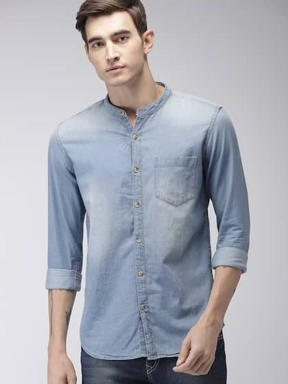 e744cd7d8f8 Denim Shirts - Buy Denim Shirts for Men Online in India