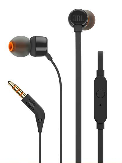 JBL Black In-Ear Wired Headphones with Mic T160