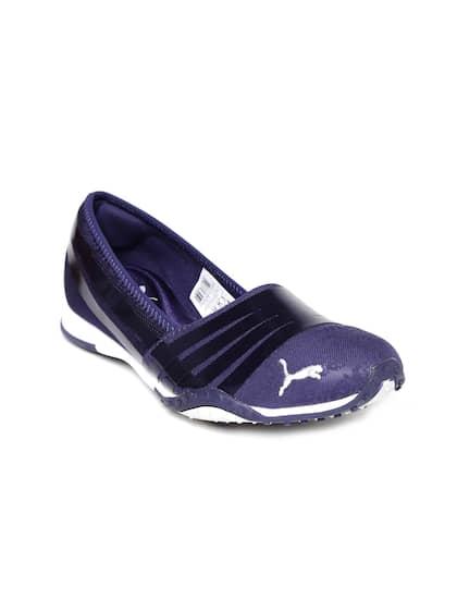 a8ff6d60496a3a PUMA Women Blue Asha Alt 2 Shine Flat Shoes