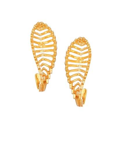 Mia by Tanishq 14-Karat Gold Precious Plain Earrings