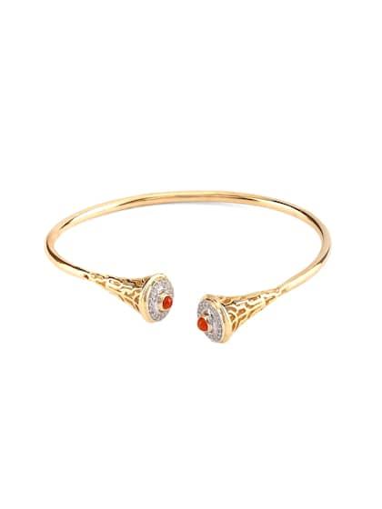 Mia by Tanishq 7.35 g 14-Karat Gold Precious Bracelet with Diamonds & Onyx Cabochon