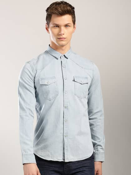 915a8ccefc Denim Shirts - Buy Denim Shirts for Men Online in India
