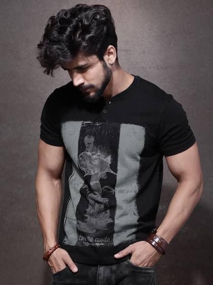 455d93e56018 V Neck T-shirt - Buy V Neck T-shirts Online in India | Myntra