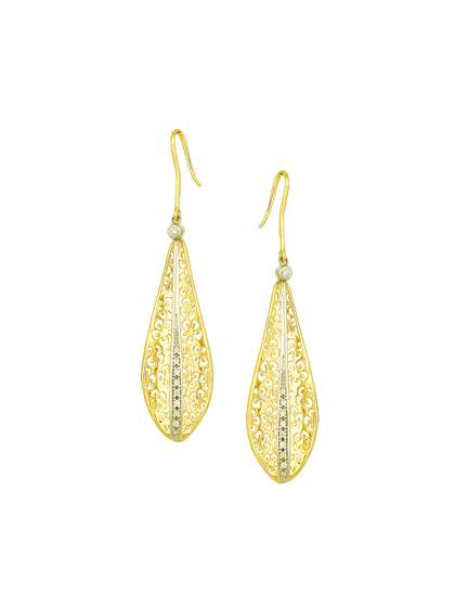 Mia by Tanishq 14-Karat Gold Precious Earrings with Diamonds