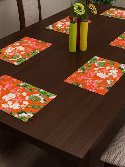 Sej By Nisha Gupta Set Of 6 Printed Table Mats