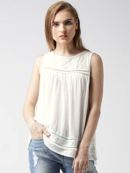 04b1b07161fcfc New Look Sleeveless Tops - Buy New Look Sleeveless Tops online in India