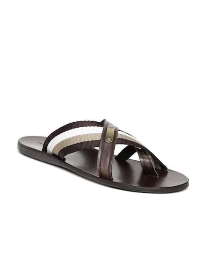 c30da4477 Tommy Hilfiger Men Brown Leather Sandals