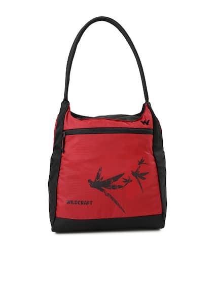 640aeb96cc Wildcraft Women Red   Black Printed Hobo Bag