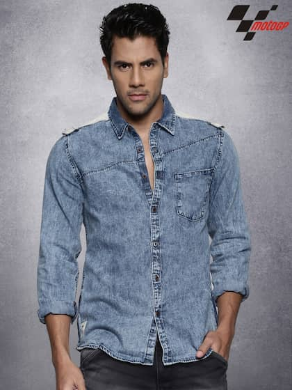 e51453389 Denim Shirts - Buy Denim Shirts for Men Online in India