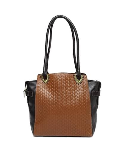 Hidesign Brown Black Leather Shoulder Bag