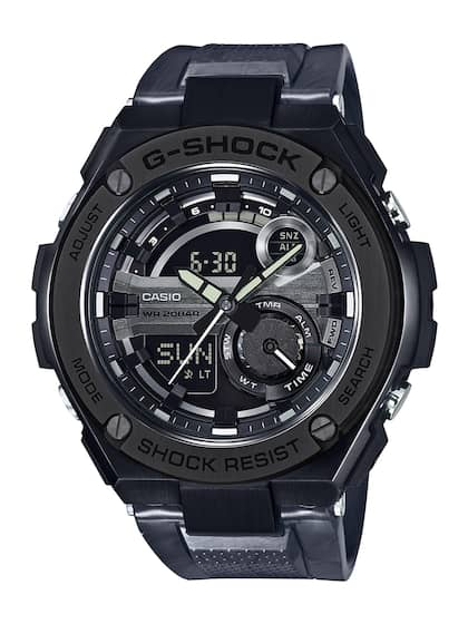 d4d5359ba785 CASIO G-Shock Men Gunmetal-Toned   Black Multifunction Analogue   Digital  Watch GST