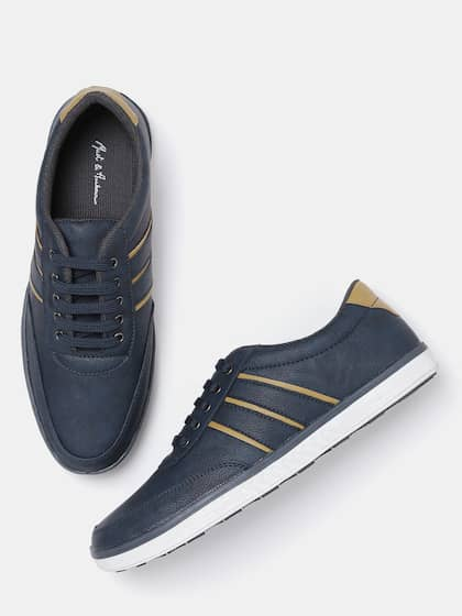 57e19f663507 Mast   Harbour Men Navy Solid Sneakers