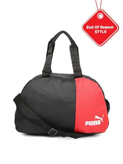 4177f581cf PUMA Unisex Black   Red B R Holdall Duffel Bag