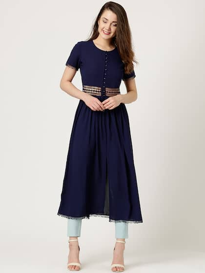 Marie Claire Women Navy Solid Maxi Top