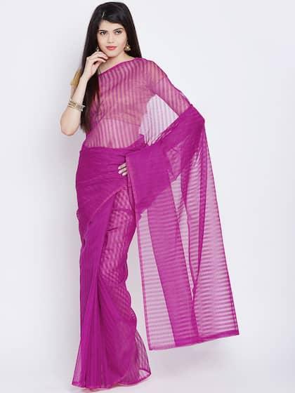 Striped Sarees Online - Buy Striped Design Saree in India - Myntra e7676bb77