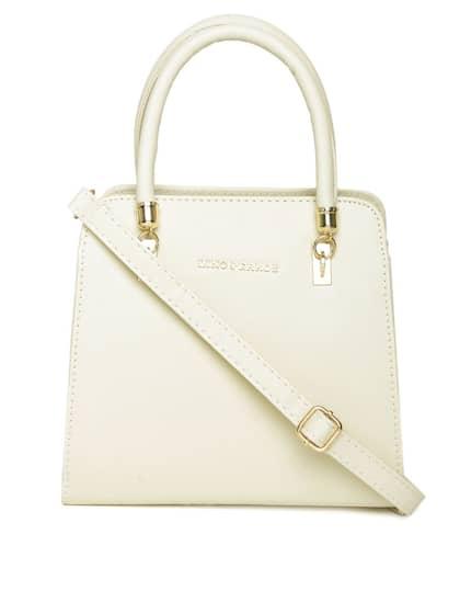 Lisa Haydon For Lino Perros Cream Coloured Handbag With Sling Strap