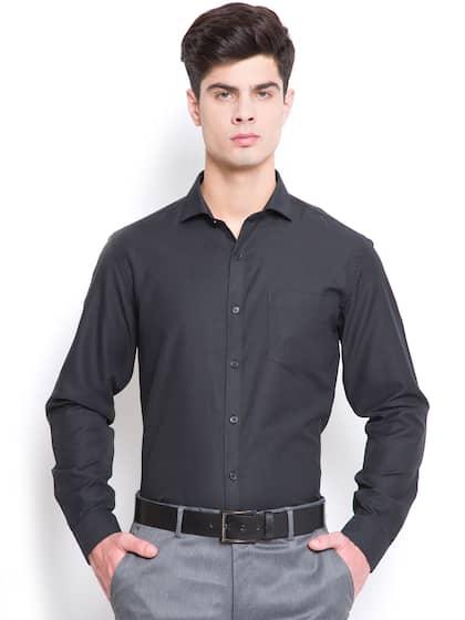 Mark Taylor Men Black Slim Fit Solid Formal Shirt