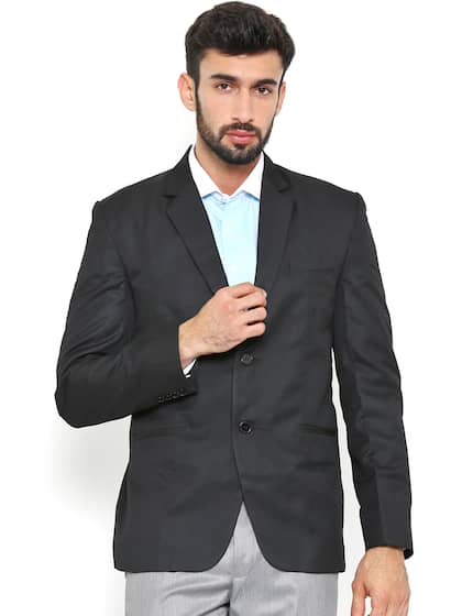3d5a9984747eb Shaftesbury London Black Regular Fit Single-Breasted Smart Casual Blazer