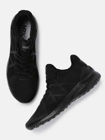 3c4078b741 HRX by Hrithik Roshan Men Black Textured Sneakers