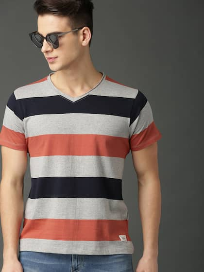 9902e0f6a3bc V Neck T-shirt - Buy V Neck T-shirts Online in India | Myntra