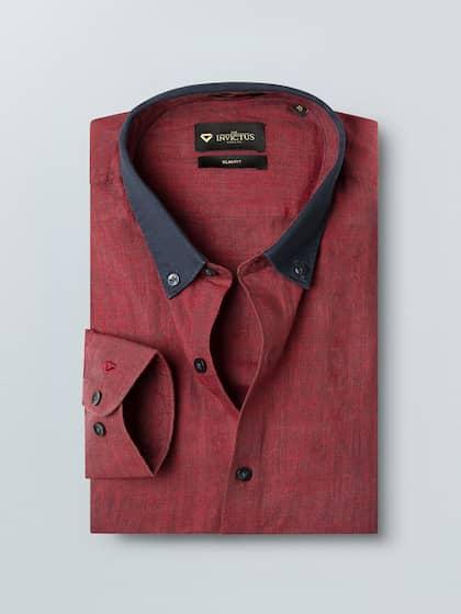 5cf77a40b6ad4 Linen Shirt - Buy Linen Shirts for Men Online in India