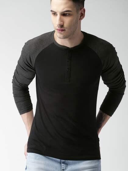 ba184407815 Henley Tshirts - Buy Henley T-shirts for Men   Women Online - Myntra