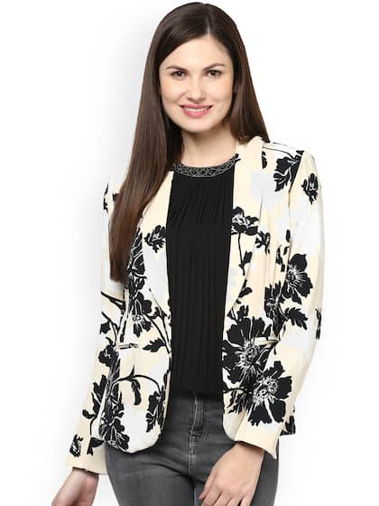 2a38bb033abee Harpa. Floral Print Open Front Jacket