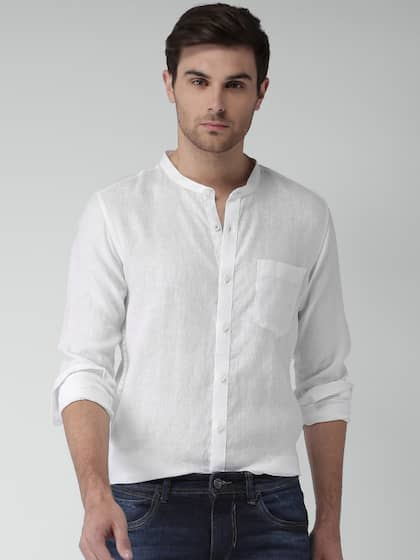 5f3f92900aac Mens White Shirts | Buy White Shirt For Men Online in India