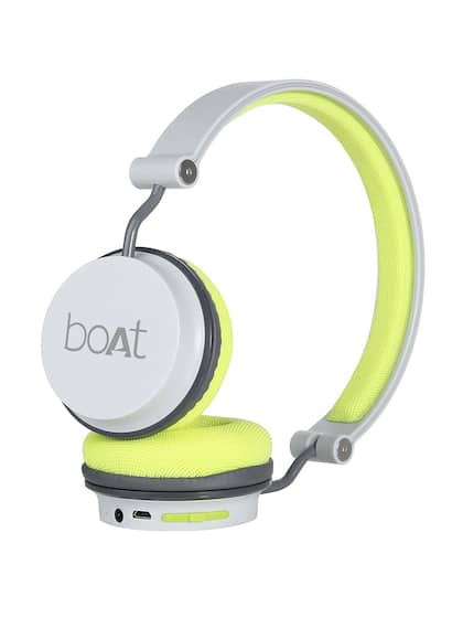 boAt Rockerz 400 Grey & GreenWireless Headphone with Super Extra Bass& Up to 8H Playtime