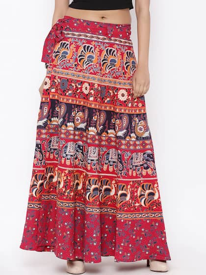 2f35f120a Wrap Around Skirts - Buy Wrap Around Skirts online in India