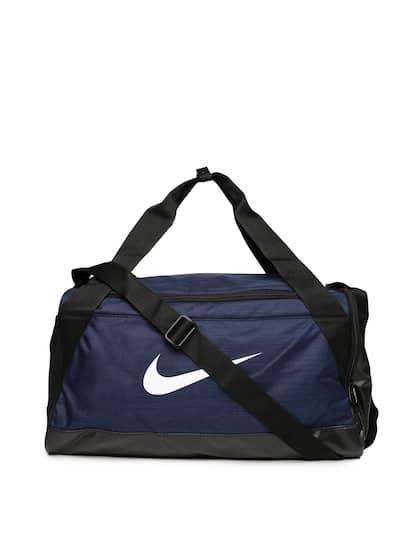 Nike Uni Navy Black Colourblocked Brasilia Duffel Bag