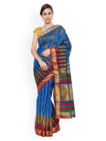 0ed8a8eeb9403f Buy Raw Silk Sarees Online at Great Price - Myntra