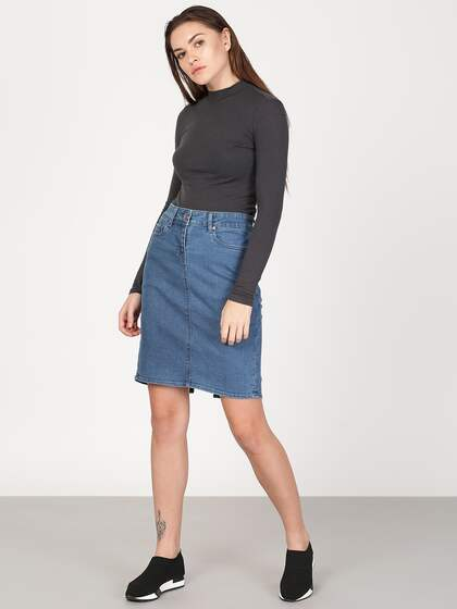 0d42b1beb5 Denim Skirts - Buy Denim Skirts for Women Online | Myntra
