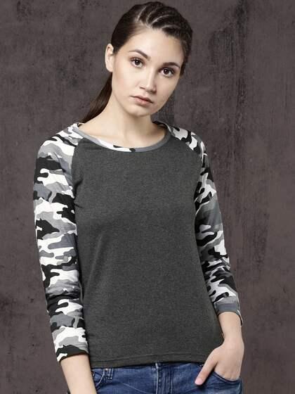 86d24e33 T-Shirts for Women - Buy Stylish Women's T-Shirts Online | Myntra