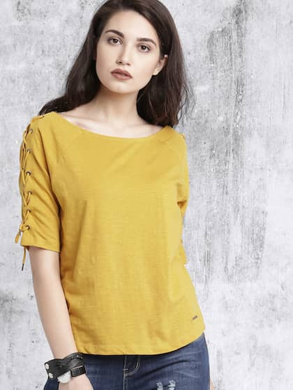 aea5382241f9 T-Shirts for Women - Buy Stylish Women's T-Shirts Online   Myntra
