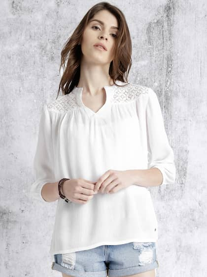 646f7000a7c9 Tops - Buy Designer Tops for Girls & Women Online | Myntra
