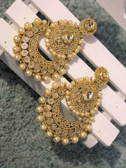Chandbali Earrings Buy Chandbali Earring Online Myntra