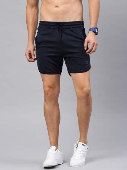 88ff27484b HRX Active by Hrithik Roshan Men Navy Solid Regular Fit Sports Shorts