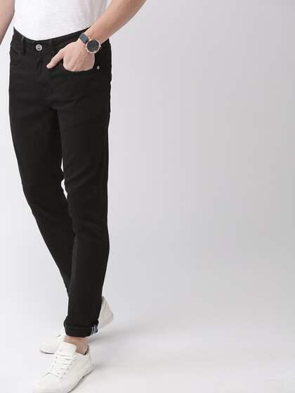 c2d0b311 Mast & Harbour Men Black Skinny Fit Mid-Rise Clean Look Stretchable Jeans