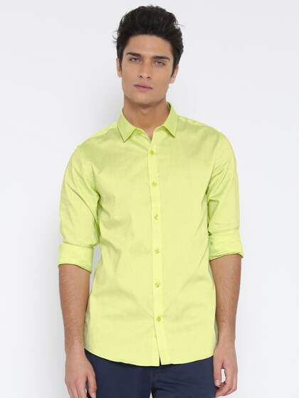 7d9c363277c Lime Green Shirts - Buy Lime Green Shirts Online in India