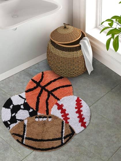 S9home By Seasons Kids Multicoloured Play Balls Shaped Cotton Bath Rug