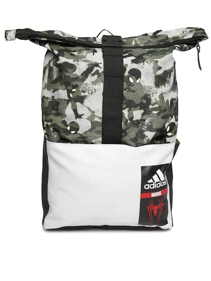 ADIDAS Marvel Kids Olive Green SM Camouflage Print Foldable Backpack 2dab654e60f76